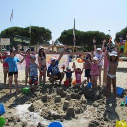 Construction de châteaux de sable